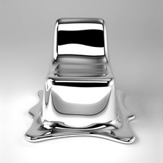 Philipp Aduatz' intention in the design of the Melting Chair is to capture a transient transformation within a sculptural object. The Melting Chair, which is suitable for use, is carefully crafted to appear to the vi. Design Furniture, Unique Furniture, Luxury Furniture, Chair Design, Glass Furniture, Furniture Websites, Furniture Market, Furniture Chairs, House Furniture