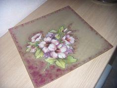 Piatto quadrato decorato a mano decoupage, by creazioniFlo, 19,90 € su misshobby.com