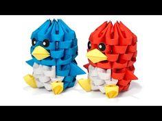 3D Origami Tiny Bird (smaller version) - YouTube