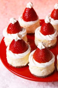 Santa Hat Cheesecake Bites Will Sleigh Your Guests This ChristmasDelish
