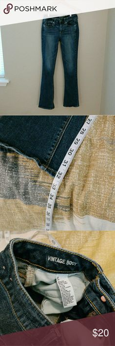 """American Eagle Jeans Like new! Size 0 long. Vintage boot cut. 32"""" inseam. American Eagle Outfitters Jeans Boot Cut"""