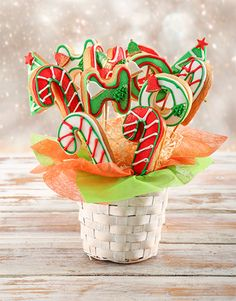 Tasty Cookies and Biscuits. Netflorist offers a range of scrumptious Cookies and Biscuits online. Christmas Flowers, Christmas Gifts, Christmas Decorations, Cookie Bouquet, Yummy Cookies, Cakes And More, Biscuits, Bakery, Treats