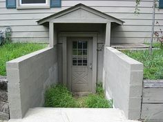 Perfect Outside Basement Entrance | Basement Entry Door Drainage | Melissa Rambles  On: September 2008