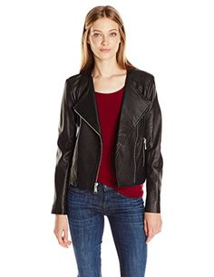 Andrew Marc Women's Riley, Black, S * Visit the image link more details.