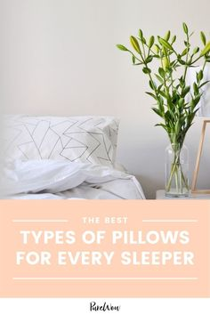 Figuring out what pillow is right for you comes down to four factors: sleep style, loft, firmness and material. This guide reveals the top types of pillows—and which one is best for a variety of needs. #pillows #sleep #bed Latex Pillow, Down Pillows, How To Fall Asleep Quickly, Best Humidifier, Feather Pillows, Weighted Blanket, Modern Minimalist