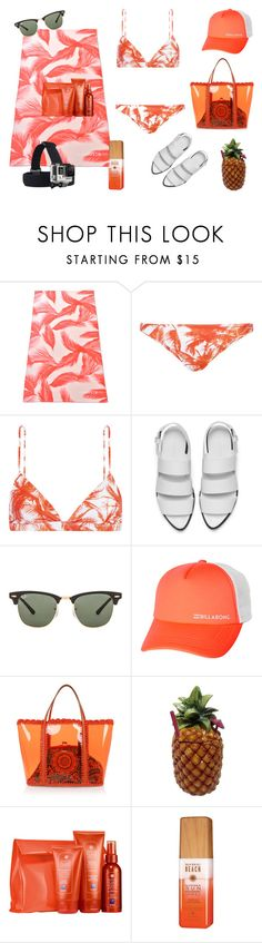 """Beach time"" by sand-2009 on Polyvore featuring Lacoste, Mikoh, Alexander Wang, Ray-Ban, Billabong, GoPro, Dolce&Gabbana, Phyto and Alterna"