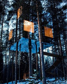 Mirrored tree house via @templeofleaves