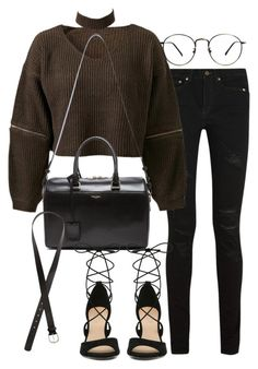 """Untitled #2293"" by mariie00h ❤ liked on Polyvore featuring Yves Saint Laurent, Chicnova Fashion and H&M"