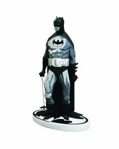 """DC Direct Batman Black & White Statue: Batman by Mike Mignola (Variant) by DC Direct. $149.95. Designed By Mike Mignola. Sculpted By Jonathan Mathews. Offers collectors a variant edition of the sold-out statue from 2006, with an oval chest symbol and a new white Bat-logo base. Cold-cast porcelain. Measures approximately 7.5"""" x 4.75"""" x 3"""". From the Manufacturer                Designed by Mike Mignola. Sculpted by Jonathan Mathews. A classic statue is back. Mike Mignola's unique ..."""