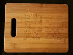 Custom engraved cutting board for Mary from 3DCarving on Etsy
