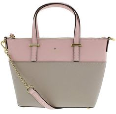 """Kate Spade Cedar Street Harmony Crossbody (orig. $248) Color: Clocktower/Rose SIZE 7'h x 11.1""""w x 3.7'd drop length: 4"""" handle, 22"""" cross body MATERIAL crosshatched leather with matching trim caroleena spade dot lining 14-karat gold plated hardware style # pxru5975 crossbody bag with adjustable strap and zip top closure interior zip and double slide pockets kate spade new york gold embossed signature with stud dust bag included"""