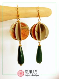 Paper earrings Origami_01 by QuillyPaperDesign