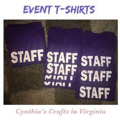 Do you have an event going on?  Perfect Staff's T-Shirts  #staff #eventtshirt #tshirt #event #volunteertshirt #volunteer #bookfestival #cynthiascraftsinvirginia #repost #shoplocal #school