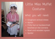 How to make your own Little Miss Muffet Costume | Boo Roo and Tigger Too #WorldBookDay