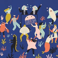 Part of a poster I designed recently for the amazing DJ duo Business Fish Disco , they're doing a Halloween Spooktacular on the 28th of October in Bristol (UK) at the crofters rights, it'll be great!