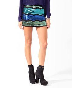 Sequined Waves Miniskirt   FOREVER21 - 2021839792