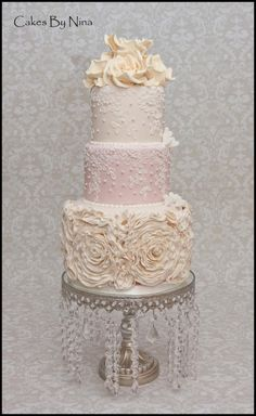 Ruffle Romance - Cake by Cakes by Nina Camberley