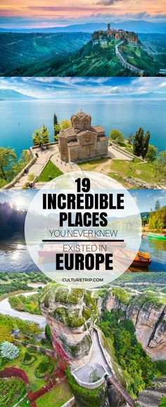 19 Incredible Places You Never Knew Existed in Europe 19 unglaubliche Orte, von denen Sie nie wussten, dass sie in Europa existierten Europe Destinations, Europe Travel Tips, European Travel, Travel Guides, Europe Places, Holiday Destinations, Travel Goals, Backpacking Europe, Budget Travel