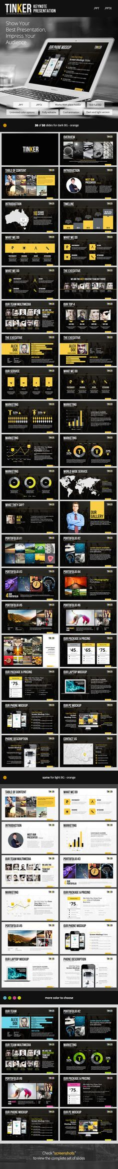 TINKER - Powerpoint Template - Creative Powerpoint Templates