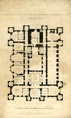 1807 - Loudoun Castle near Galston, in the Loudoun area of Ayrshire, Scotland. 2nd floor