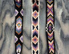 Chevron Pattern Macrame Friendship Bracelets