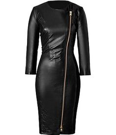 BY MALENE BIRGER  Black Leather Mallisia Dress