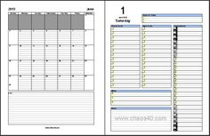 Free | ... planners - template / Unique day planners template ...