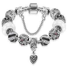 Heart Charm Bracelet H2 White Murano Glass Beads Tiny Crystal Spacers Recyclebabe Bracelets http://www.amazon.com/dp/B01AINY9A0/ref=cm_sw_r_pi_dp_yCfTwb179PXD1