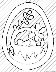 vajíčko Easter Holidays, Kirigami, Happy Easter, Paper Cutting, Coloring Pages, Scrapbooking, Templates, Crafts, Art