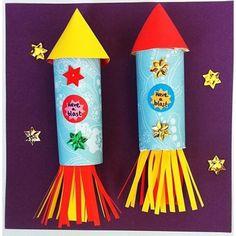 Handprint Art Space Rocket Craft · The Inspiration Edit – Backen Vbs Crafts, Preschool Crafts, Arts And Crafts, Space Preschool, Alien Crafts, Unicorn Crafts, July Crafts, Toilet Roll Craft, Toilet Paper Roll Crafts