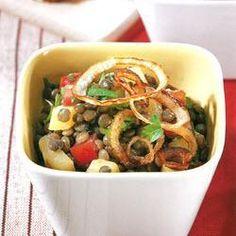 Ensalada de lentejas | #Receta de cocina | #Vegana - Vegetariana ecoagricultor.com