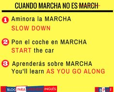 """""""Cuando MARCHA no es MARCH. """""""
