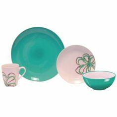 Zen Garden 16pc Ceramic Dinnerware Set