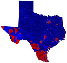 Precinct Level Map Of 2016 Us Presidential Election In Texas Os 7896x7396