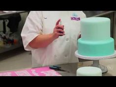 How to make the Vintage Romance Wedding Cake by DecoPac - YouTube