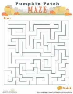 autumn maze thanksgiving worksheetshalloween - Halloween Safety Worksheets