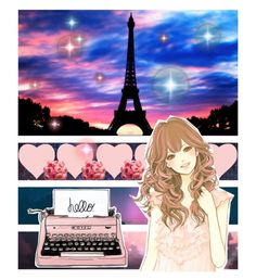 """""""Colorful World"""" by valegarcia-reader on Polyvore featuring arte, paris, galaxy, pinkbluepurple y cravingcolour"""
