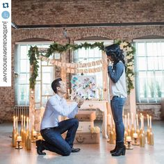 """fabulous vancouver wedding Planning on purposing ?! Check out @justbecausevancouver congrats @betty_ho !!!! with @repostapp. ・・・ """"When I turned the corner this beautiful brick condo, I saw Steve standing in the middle of the room, surrounded by candles and beautiful decor. He was holding a sign that said """"SURPRISE"""", wearing a huge smile… that was when it struck me that he was going to propose. I was in disbelief. I was so nervous that I was shaking!My experience will..."""