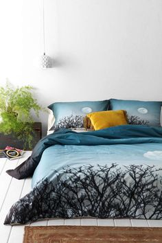 Bird Wanna Whistle for DENY Moon Duvet Cover - Urban Outfitters