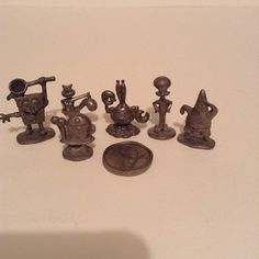 2005 Spongebob Squarepants Monopoly Edition Lot Of 7 Pewter Replacement Pieces  #ParkerBrothers