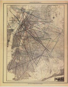 "John Cage's Graphic Score The innovative and influential American composer John Cage created a graphic score called ""49 Waltzes for the Five Boroughs"" as a tribute to the ever- changing city of New York. He superimposed 49 triangles on a map of New York City, using chance means to determine the locations of each angle. The listener or recorder was invited go to the apex of each angle and listen to or record the sounds of the city in that place.  *Rolling Stone Magazine, 1977."