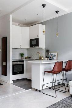 Compact studio apartment in Stockholm (26 sqm) | PUFIK. Beautiful Interiors. Online Magazine #wood