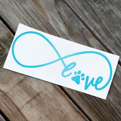 Paw Print Love Infinity Car Decal by RebeccaLaneGraphics on Etsy