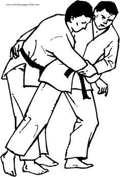 Judo Karate Coloring Page Kids