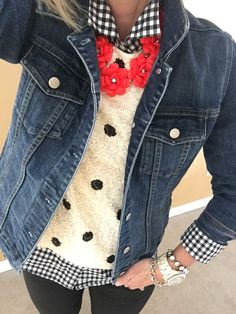 Fashion over 40: When you're tired of the sweaters and it's still cold.........layer on the J Crew :) - sale womens clothing, womens clothing dress, womens clothing tops