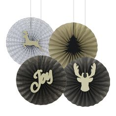 Black Christmas, Christmas Paper, Christmas Holidays, Christmas Table Centerpieces, Christmas Party Decorations, Holiday Decor, Paper Fans, Party In A Box, Festival Party