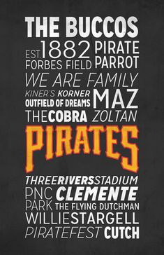 Pittsburgh Pirates Poster!