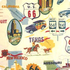 Vintage Transportation Map Fabric to make their bedding
