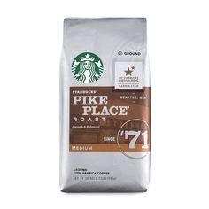 Starbucks Pike Place Roast Medium Roast Whole Bean Coffee, 12 Ounce (Pack of Starbucks Coffee Beans, My Starbucks, Coffee Drinks, Starbucks Rewards, Coffee Varieties, Coffee Health Benefits, Keto, Coffee Roasting, Ground Coffee