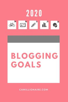 Here are my goals for my blog in 2020. Get a chance to share yours as well! Make A Plan, Blog Tips, Life Goals, Writing, Productivity, Blogging, Career, Organization, Getting Organized